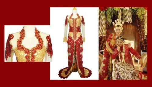 roemah rias arnie suryo - kebaya pengantin merah emas